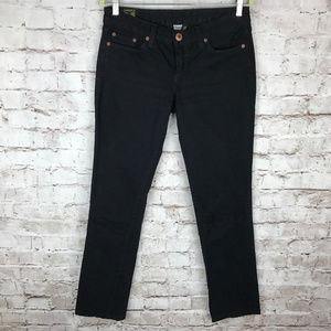 LUCKY BRAND Womens Black Lola Straight Jeans Sz 29